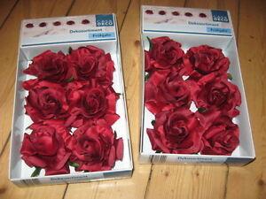 Dekoration * * 12 Rosen Blüten mit Befestigungsklammer * * NEU - <span itemprop=availableAtOrFrom>Kollweiler, Deutschland</span> - Dekoration * * 12 Rosen Blüten mit Befestigungsklammer * * NEU - Kollweiler, Deutschland