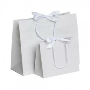 Luxury Boutique Ribbon Tie Gift Bag Rope Handles Baby