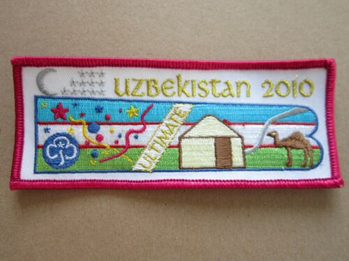 Uzbekistan 2010 Girl Guides Cloth Patch Badge L5K C