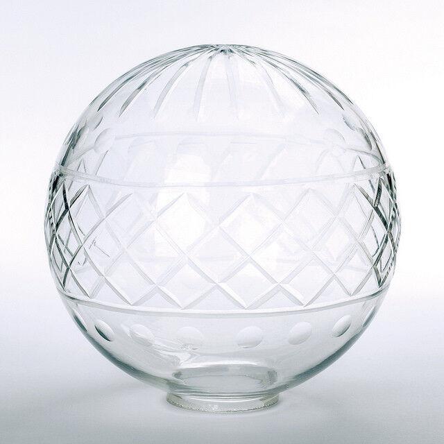 Handgeschliffene Glaskugel in vielen Größen klar mit Loch 42mm Jugenstil  | Lebhaft und liebenswert