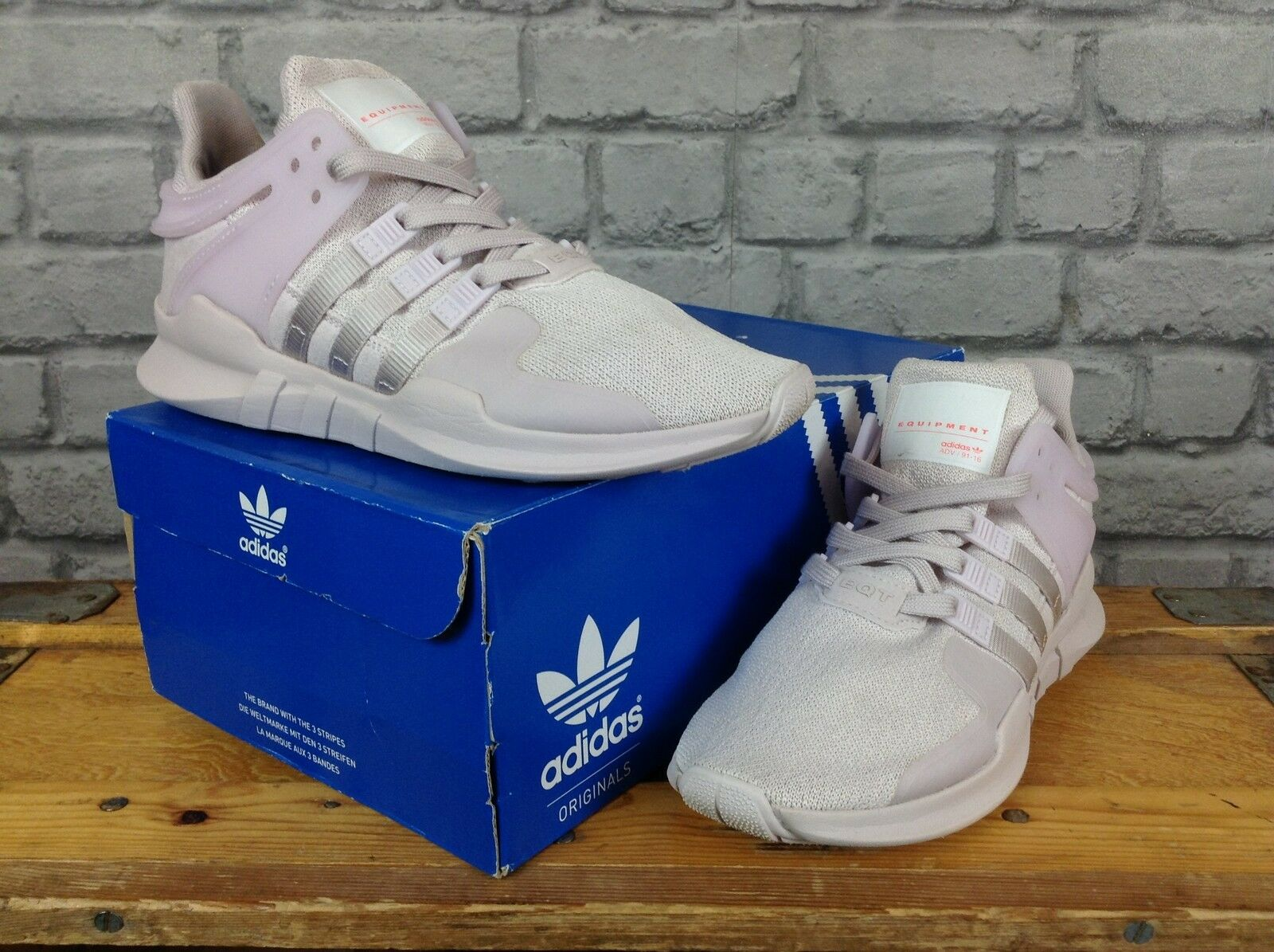 GORGEOUS ADIDAS SUPERSTAR blanc / ROSE GOLD 3D CRACKLE TRAINERS Taille 4 UK