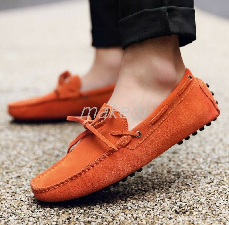 New Mens Casual Slip On Driving Boats shoes Moccasin Gommino Plus Size Loafers