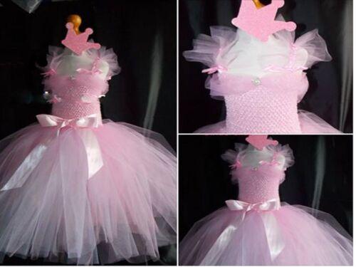 Girls-Bridesmaid Princess-Pageant-Prom-Flower girl dress /& crown BIG dress 1 15