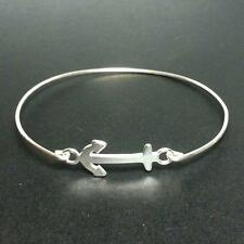 Anchor Bangle Bracelet - 925 Sterling Silver - Nautical Sailor Beach Jewelry NEW