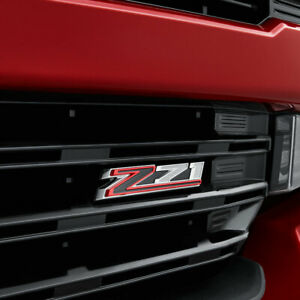2019 Silverado 1500 Z71 Badge Emblem Grille Black Red ...
