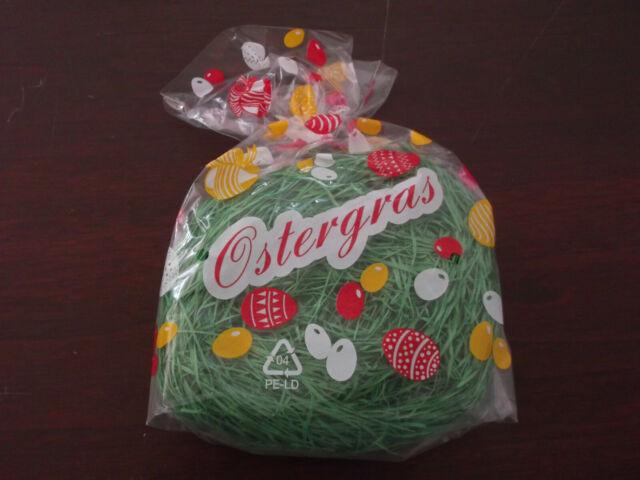 Ostergras 4 Pakete a30g grün Papier Ostern Osterdeko Gras Deko für Osterkörbchen