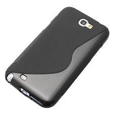 Silikon TPU Case Handy-Tasche Schutz-Hülle Samsung Galaxy Note 2 N7100 schwarz