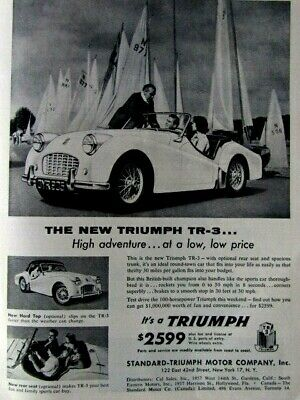 "1959 Triumph TR3 Las Vegas-Hard Top Soft Life Original Print Ad 8.5 x 11/"""