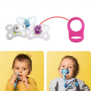 5Pcs Multi Colors Silicone Baby Dummy Pacifier Holder Clip Adapter for MAM Rings