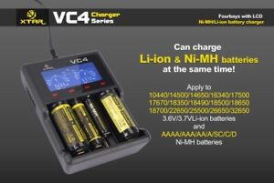 Xtar-vc4-Intelligent-LCD-Premium-Lithium-ion-NiMH-4-Canal-Chargeur-18650