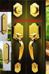 Nuset Door Handlesets For Double Doors One Entry One
