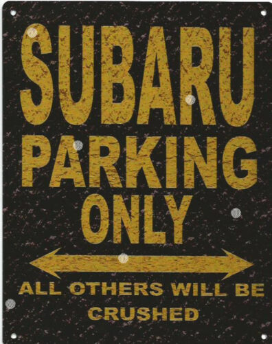 SUBARU PARKING METAL SIGN RUSTIC VINTAGE STYLE6x8in 20x15cm garageART