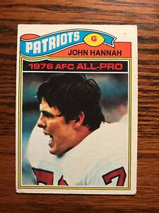 1977 Topps #460 John Hannah Football Card New England Patriots AFC All Pro Raw