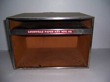 Vintage Louisville Paper And Mfg Co Advertising Desk Paper Organizer Tray Box