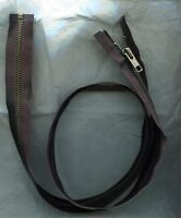 36 Inch Black & Antique Brass Metal 5 Ykk Zipper Separating