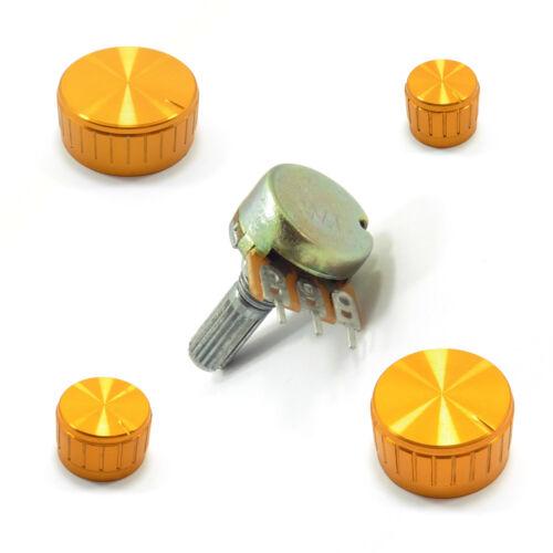 Mono Single Potentiometer Lin B Ohm Tone Volume Mixer and Gold Aluminum Cup