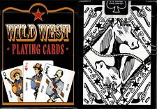Wild West Black Playing Cards Poker Size Deck USPCC Custom Limited Edition New