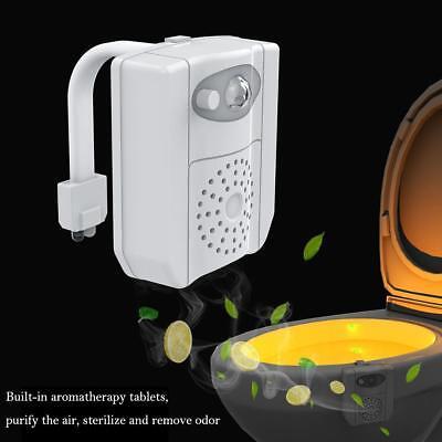DE|16 Farbe Motion Sensor LED Toilettendeckel WC Sitz Klobrille WC Nachtlicht