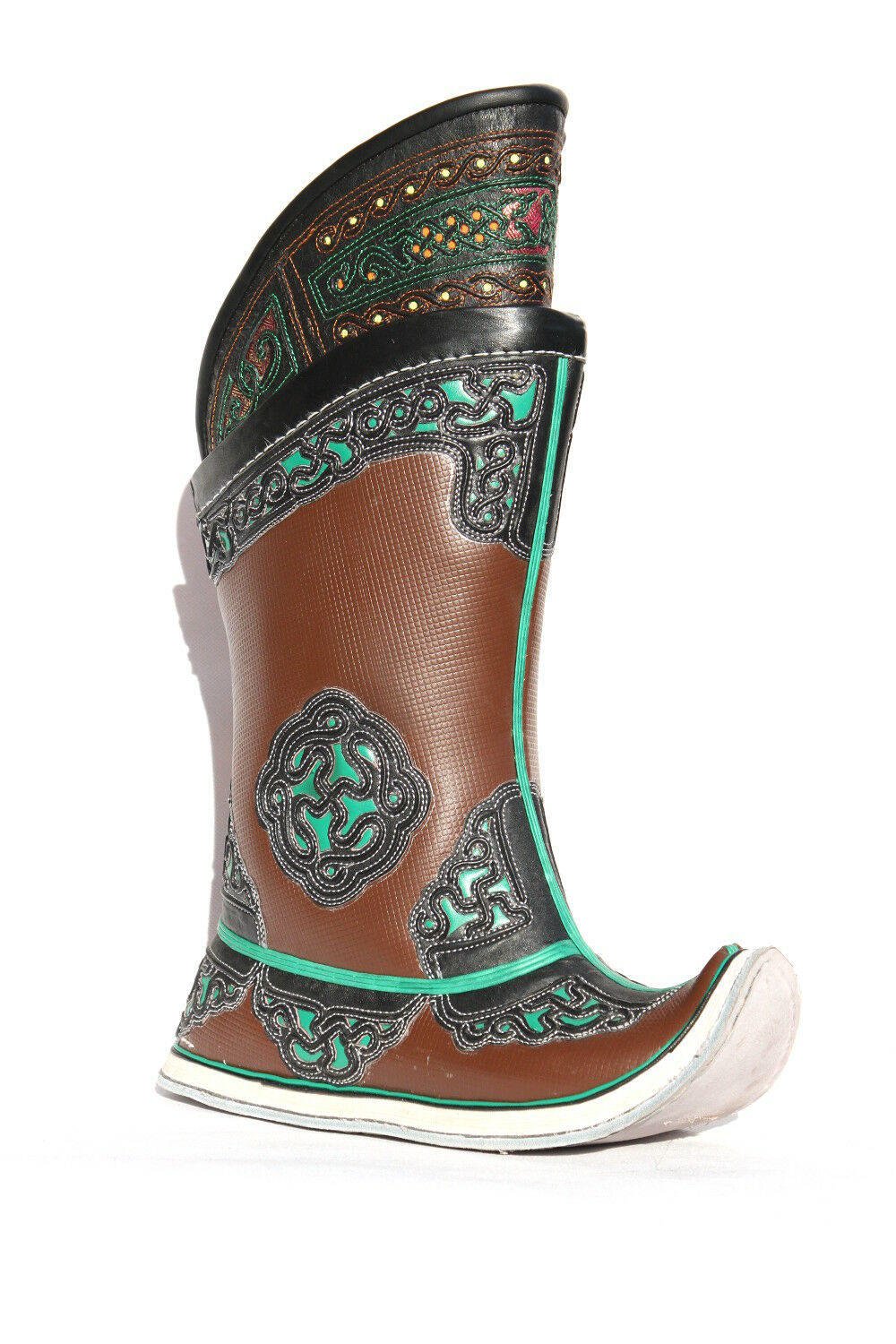 Mongolian Boots Brown 52 pattern