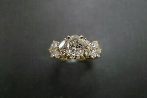 ESTATE-VINTAGE-OVAL-MARQUISE-DIAMOND-ENGAGEMENT-WEDDING-RING-14K-GOLD-OVER