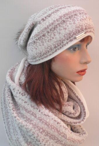 Damen Mützenset 3teiliges//Set  Mütze und Schal Loopschal Handschuhe Strickmützen