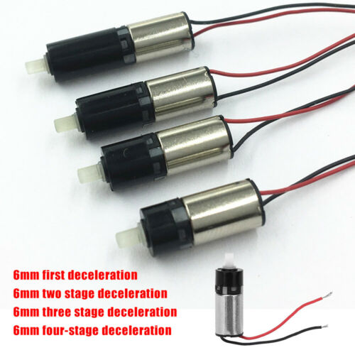 6mm DC3V Precision Mini Micro Planetary Reduction Reducer Gear Motor 1-4 Stage