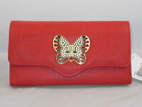 Mundi File Master Red Gold Butterfly Coupons Cash Receipts Organizer Wallet $38