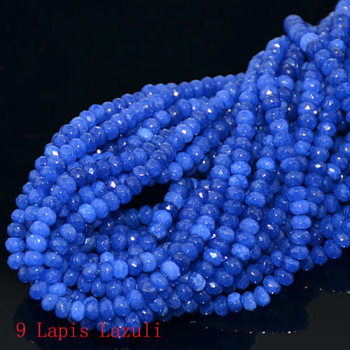 """New 2x4mm Multi-color Faceted Natural roundlle Gemstone Loose Beads 15 /"""" AAA"""