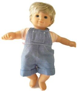 Debs 2 pc Plaid Shorts/& PURPLE Crop-Top-Shirt Doll Clothes For Bitty Baby Boy