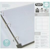 12x12 Inch (6-4x6 Inch Pockets) 3-ring Album Photo Sleeve Protectors, 50 Pk, on sale