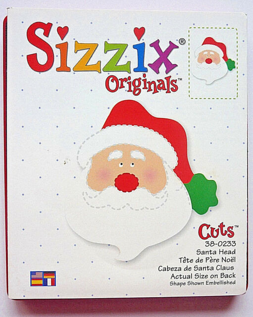 Sizzix Originals Large Red SANTA HEAD FACE 38-0233 Christmas 1 RARE Cutting Die