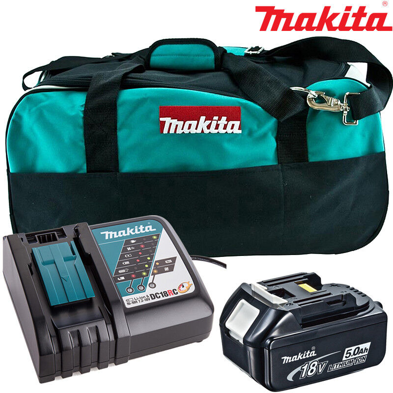 Makita BL1850 5.0Ah Battery + DC18RC Charger + LXT400 Bag For DHS630Z, DHS680Z