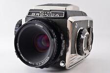【N MINT】ZENZA BRONICA S2 6×6 Medium Format w/ NIKKOR-P.C 75mm F2.8 From Japan