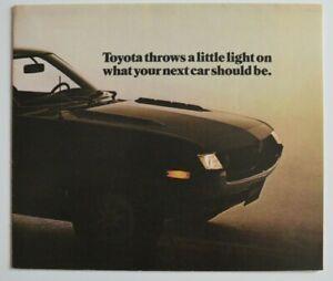TOYOTA-Full-Line-1972-dealer-brochure-catalog-English-Canada-CELICA-ST