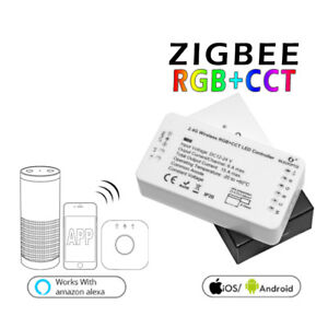 new arrival f00aa 20816 Details about 2x ZIGBEE RGB+CCT RGBW LED Strip Controller Dimmer For Echo  Plus Amazon Alexa
