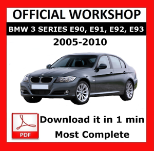 official workshop manual service repair bmw series 3 e90 2005 2010 rh ebay co uk