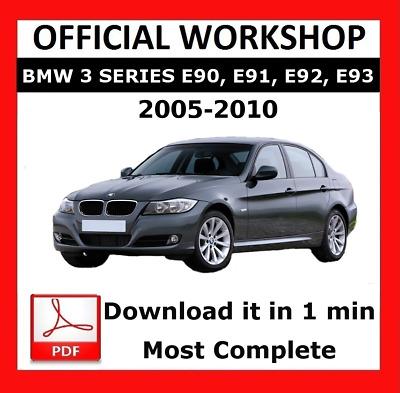 Official Workshop Manual Service Repair Bmw Series 3 E90 2005 2010 5010960574331 Ebay