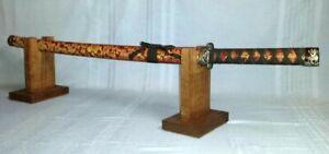 Display-Presentation-Stand-Katana-Samurai-Sword-Gun-Knife-Show-Fireplace-Mantle