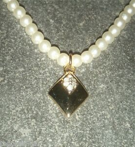 BRAUTSCHMUCK-BRAUT-Perlenkette-Halskette-Perlen-Kette-Hochzeit-Cremeweiss