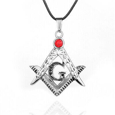 on sale stainless steel Freemason Mason Masonic Symbol Pendant Charms Silver