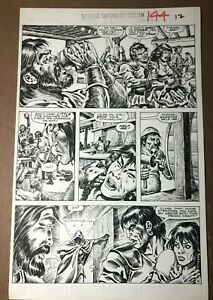 Savage-Sword-Conan-144-1988-Original-Comic-Page-Ernie-Chan-Red-Sonja-netflix