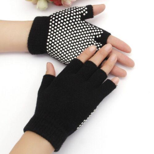 Bike Professional Women Shockproof Anti-slip Cycling Half Finger Glove Cotton QP