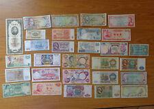 LOTTO 29 banconote CINA BELGIO REP SOVIETICA NIGERIA INDONESIA JAMAICA SUBALPINA