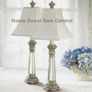 of small mirrored table lamps french country buffet bedroom e2 ebay. Black Bedroom Furniture Sets. Home Design Ideas