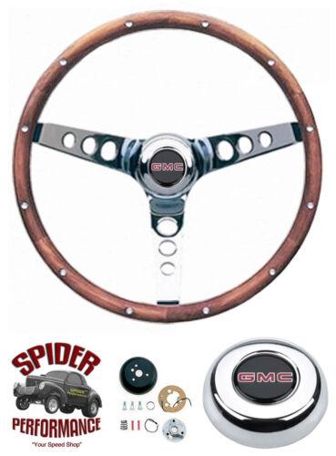 "1948-1959 GMC pickup steering wheel 13 1//2/"" CLASSIC WALNUT"