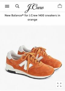 online store ed3c7 c7806 Details about NEW BALANCE® FOR J.CREW 1400 NIB SNEAKERS ORANGE USA MADE  SIZE 12 #H6050