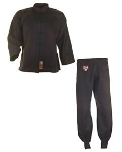 Kung Fu Anzug schwarz von Ju Sports, 100% Cotton. In 110-200cm. WT, Tai Chi