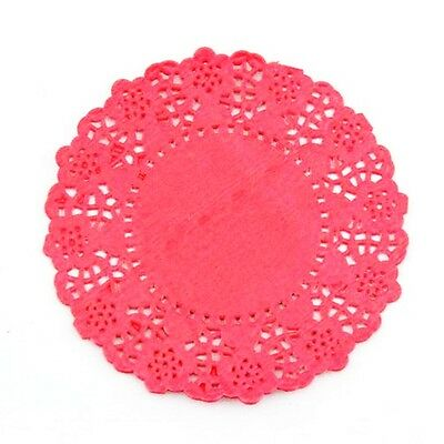 """20pcs 4.5""""/11cm Round Lace Doilies paper for Party craft Scrapbooking Red"""