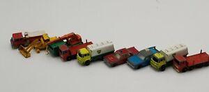 Inglaterra-Matchbox-Lesney-Vintage-Lote-De-10-coches-de-juguete