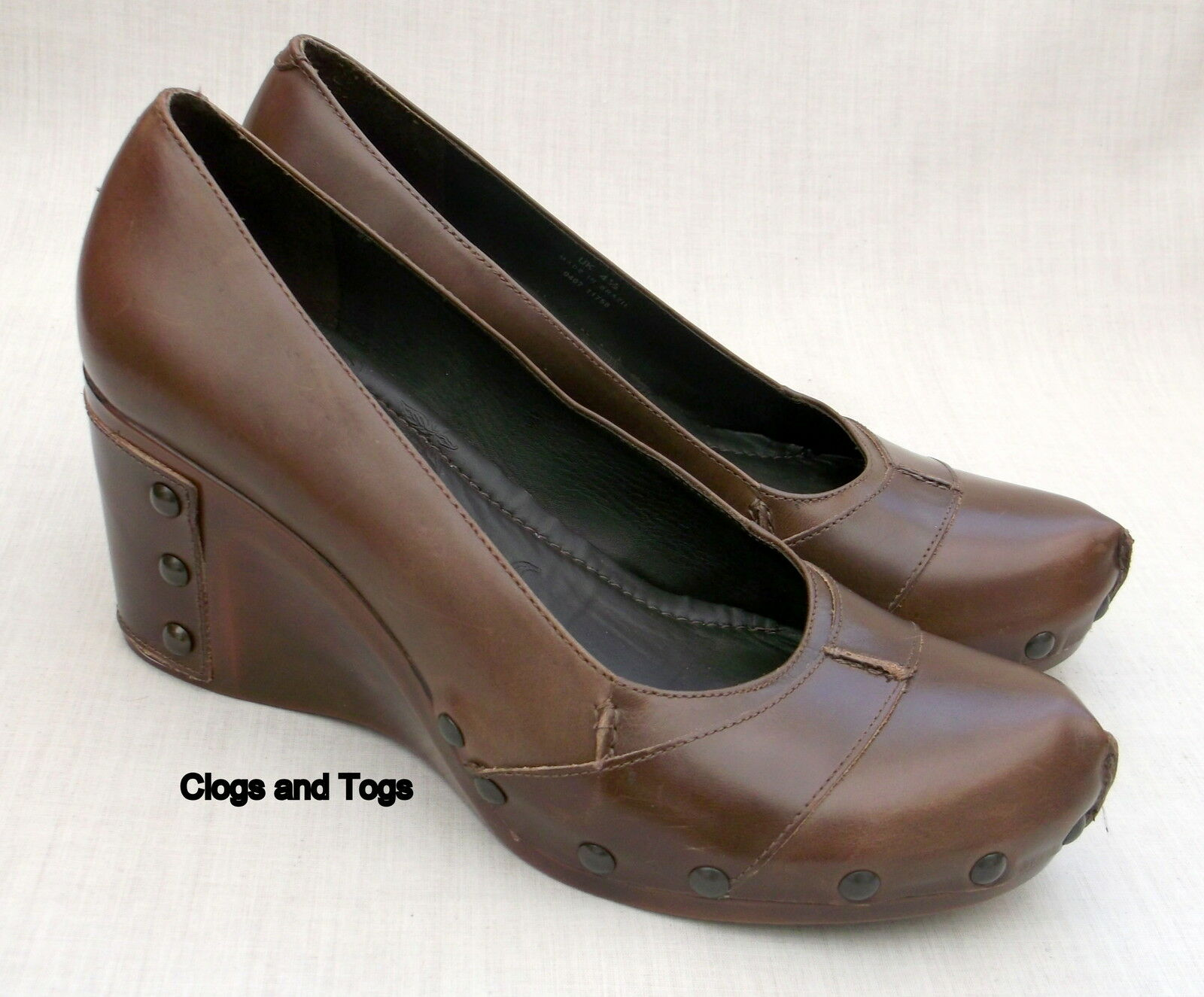 NEW CLARKS HERO HARE BROWN LEATHER CONCEALED PLATFORM Schuhe
